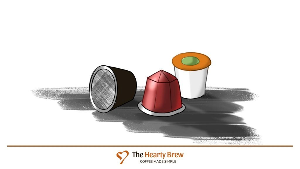 drawing of single-serve coffee pods