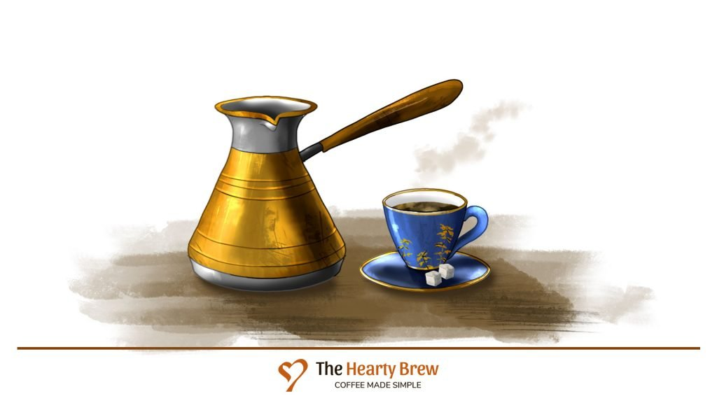 drawing of a Turkish Coffee Pot