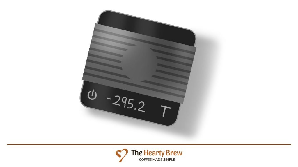 drawing of an Acacia brand espresso scale