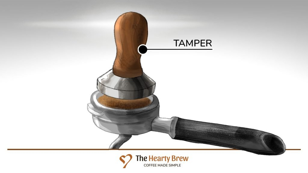 drawing of an espresso tamper