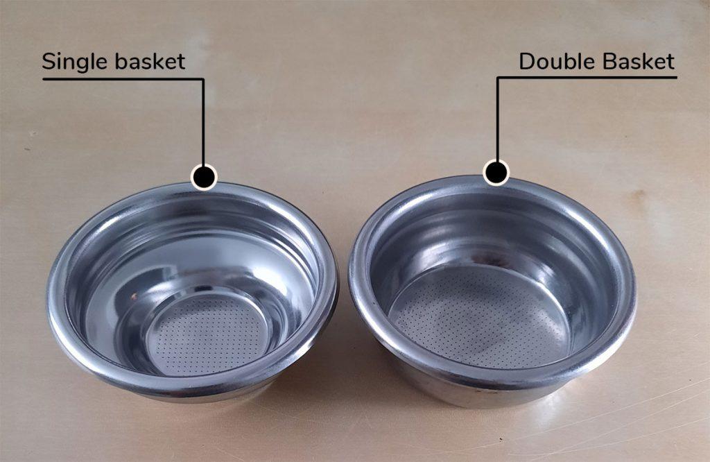 single vs double portafilter basket