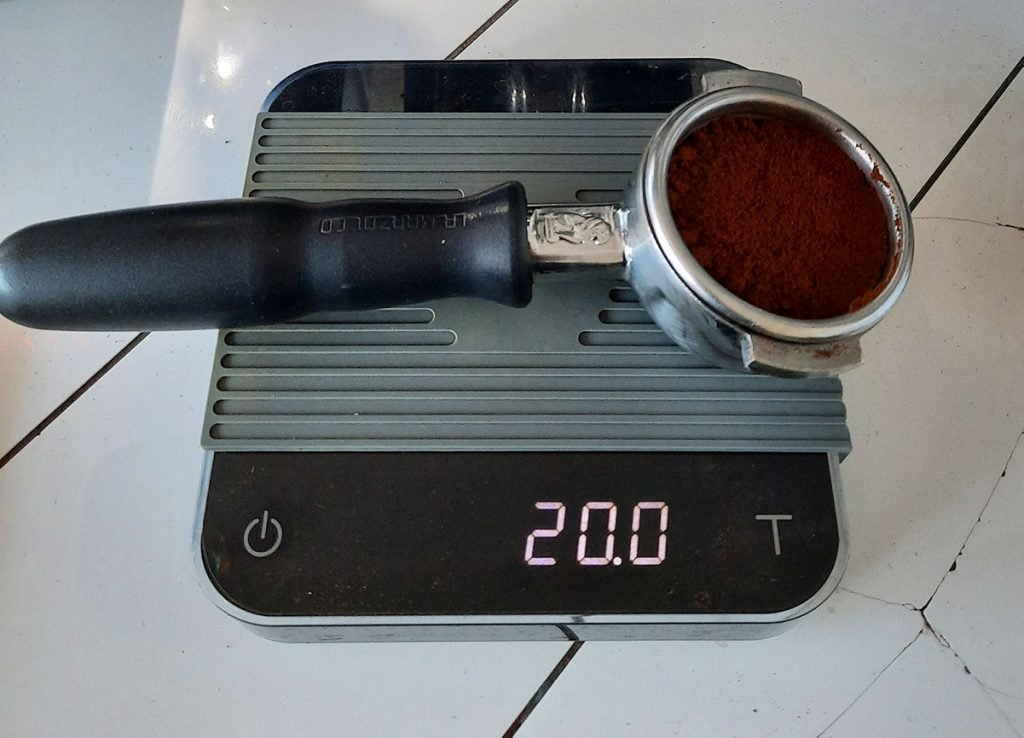 an Acaia scale for espresso