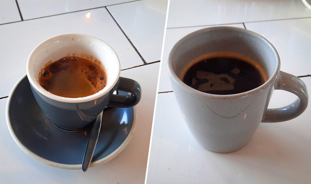 long black vs americano size comparison