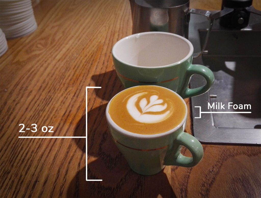a cortado coffee