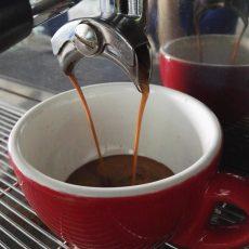 Espresso flowing